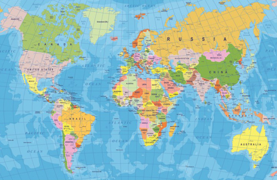 World Map Wallpaper | World Map Wallpaper for Walls