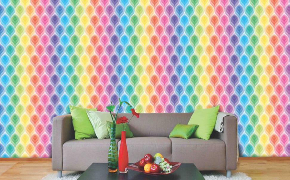 Rainbow color leaf design - Marshalls
