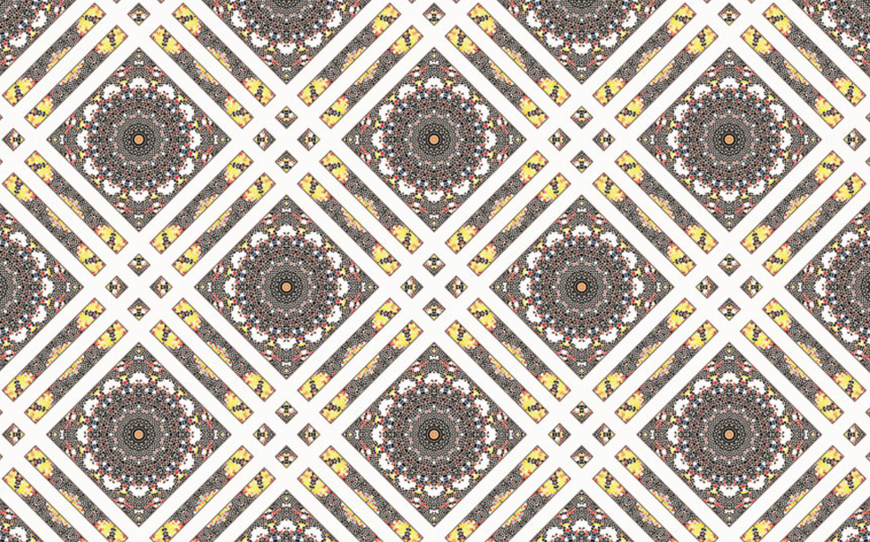 Colorful mosaic seamless pattern - Marshalls