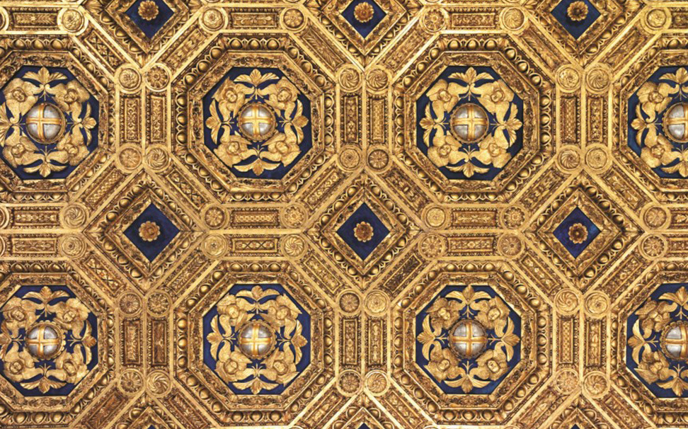 Transform your ceiling into a beautiful canvas with this Palazzo Vecchio ceiling wallpaper - Marshalls