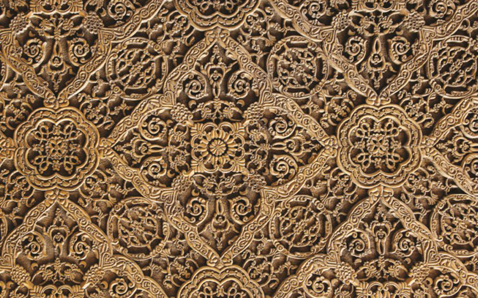 Traditional easr pattern decoration on wood 1 - Marshalls