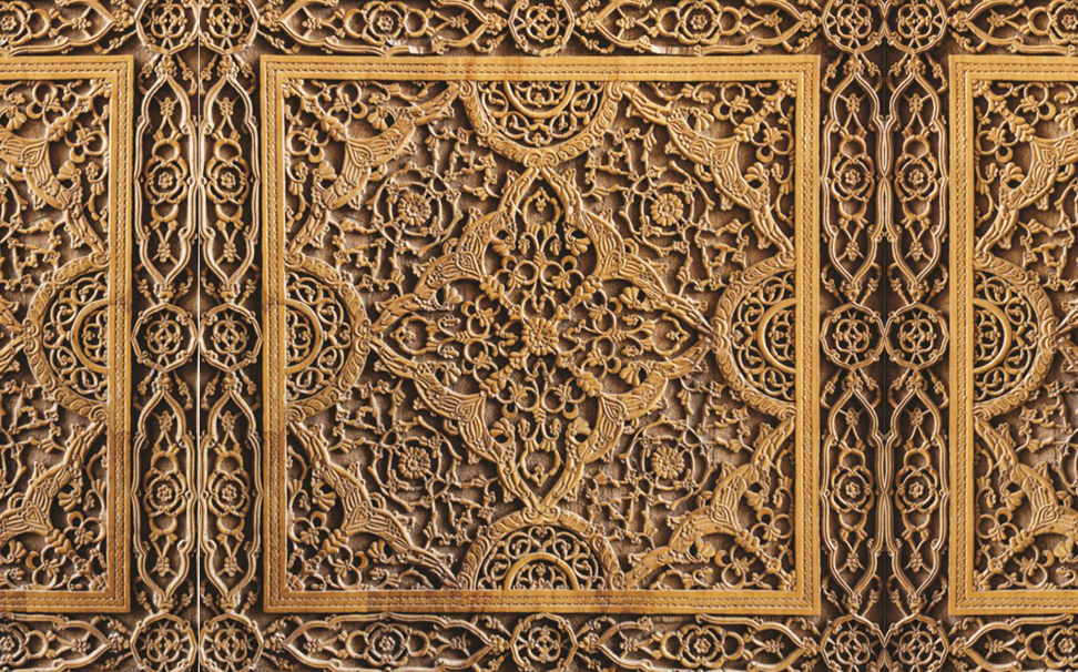 Traditional easr pattern decoration on wood 2 - Marshalls