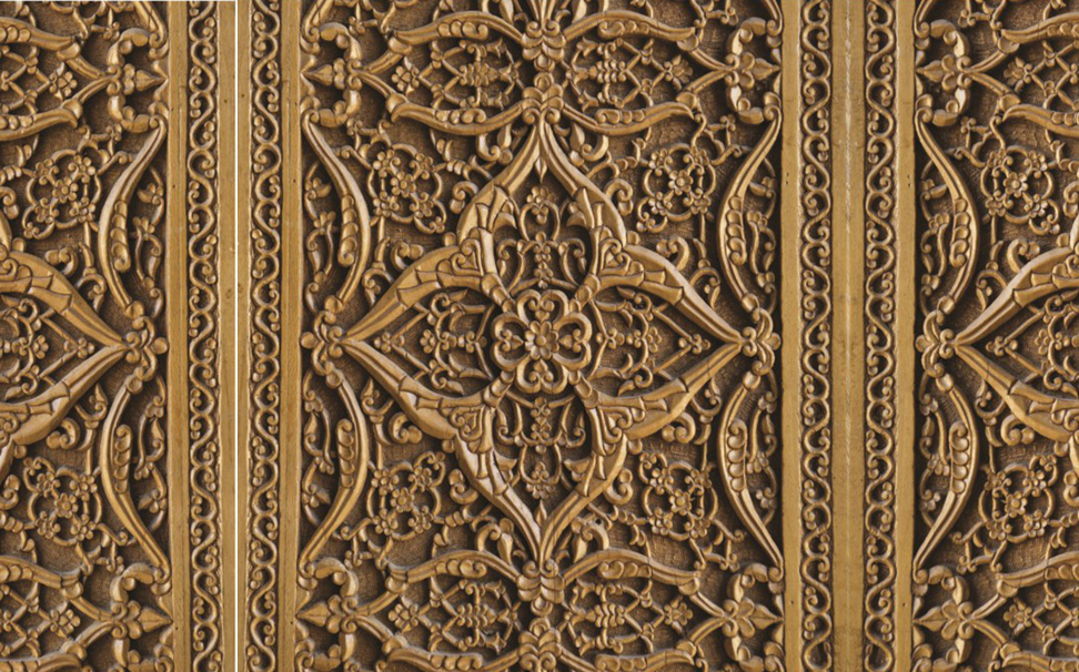 Traditional easr pattern decoration on wood 3 - Marshalls