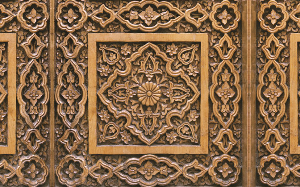 Traditional easr pattern decoration on wood 4 - Marshalls