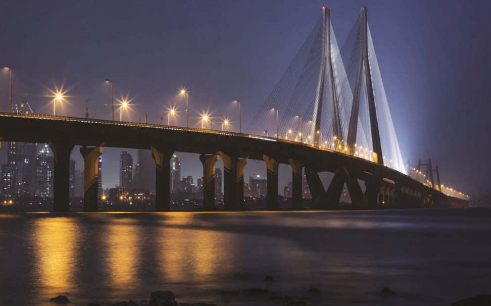 Behold the dynamics of modern architecture with this elegant view of Bandra-Worli sea link - Marshalls