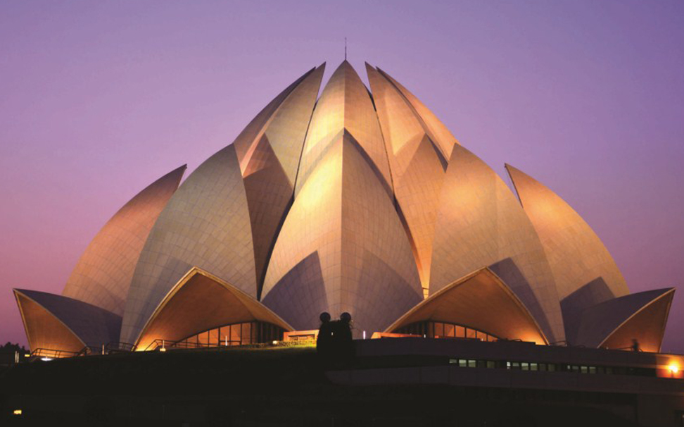 Illuminating to its best, an amazing view of the landmark Lotus temple - Marshalls