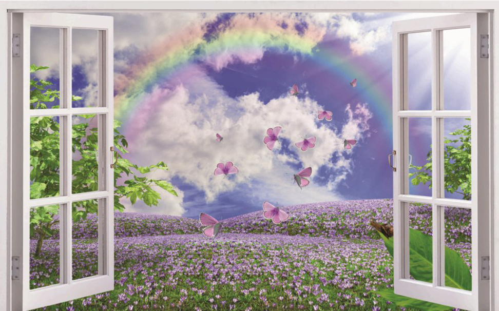 A dreamy view outside the window on your walls - Marshalls