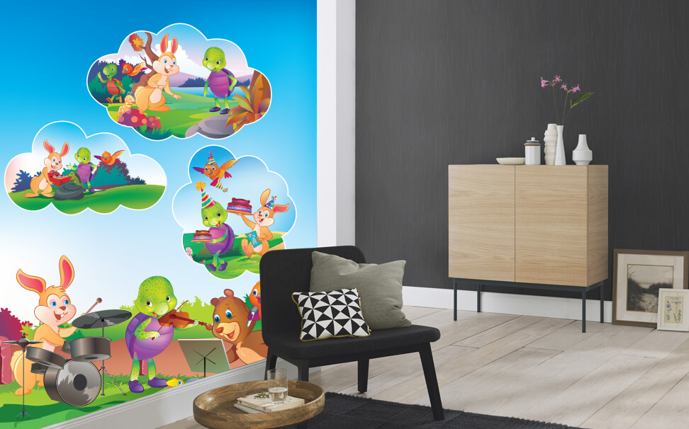 Smart Wall Picture - Purple Turtle Natural Designs