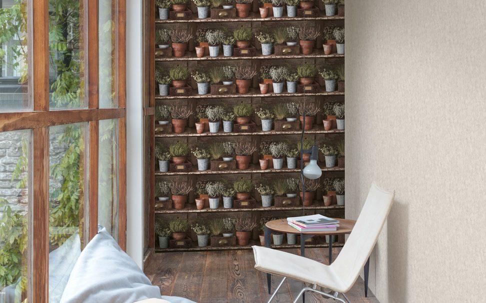 Plant Shelves 3D Wallpaper   Marshalls