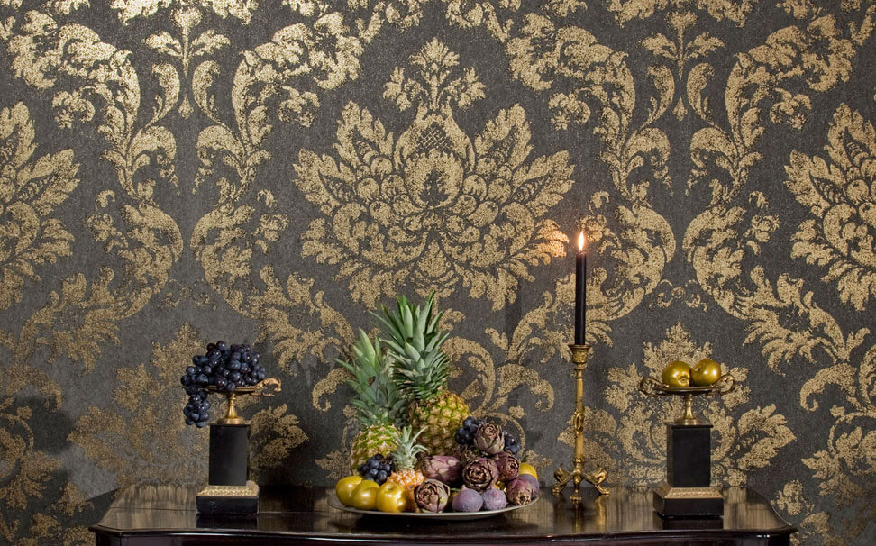 Damask floral wallpaper for walls - Marshalls