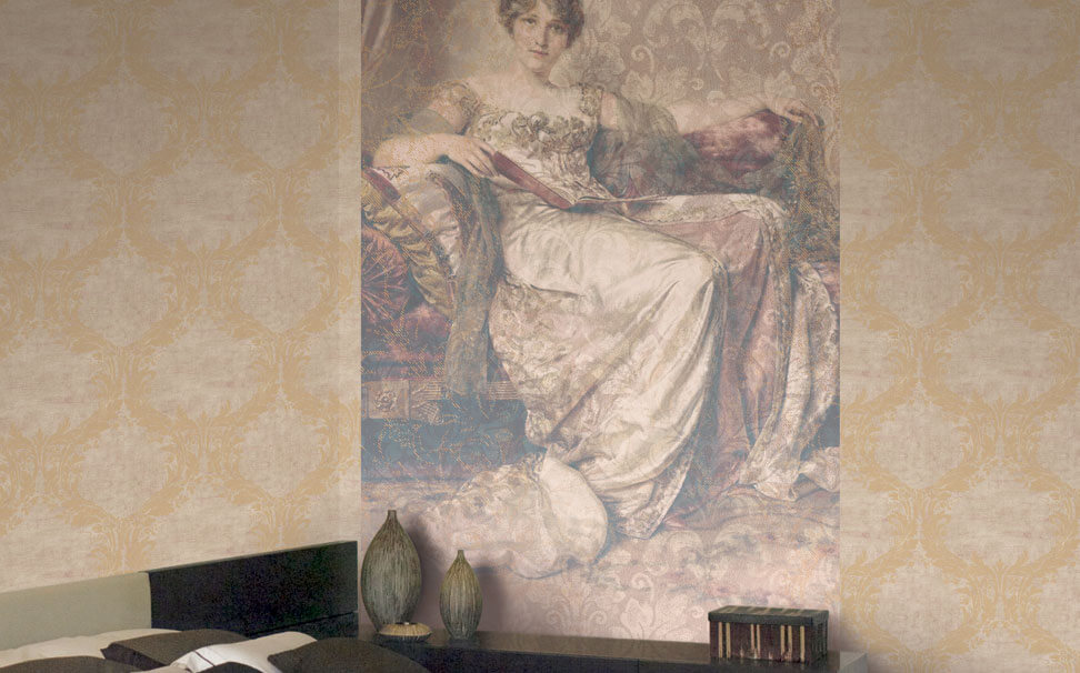 Damask wallcovers painting - Marshalls