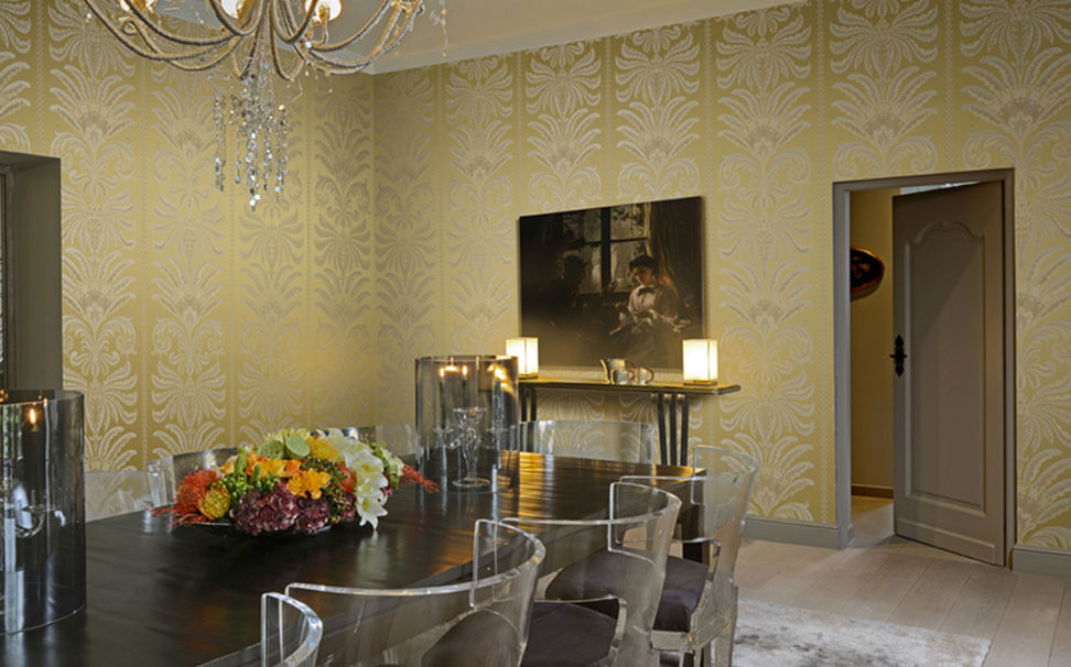 Damask wallpaper gold - Marshalls