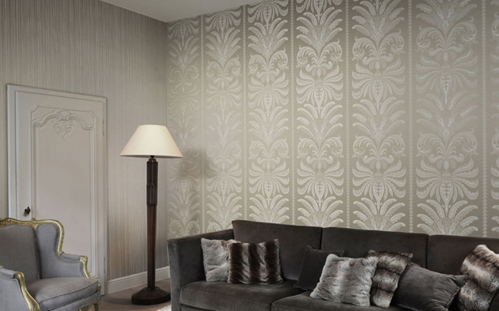 Damask designer wallpaper - Marshalls