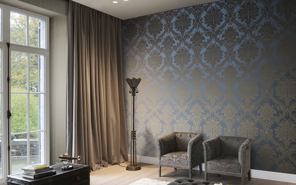Damask design wallpaper - Marshalls