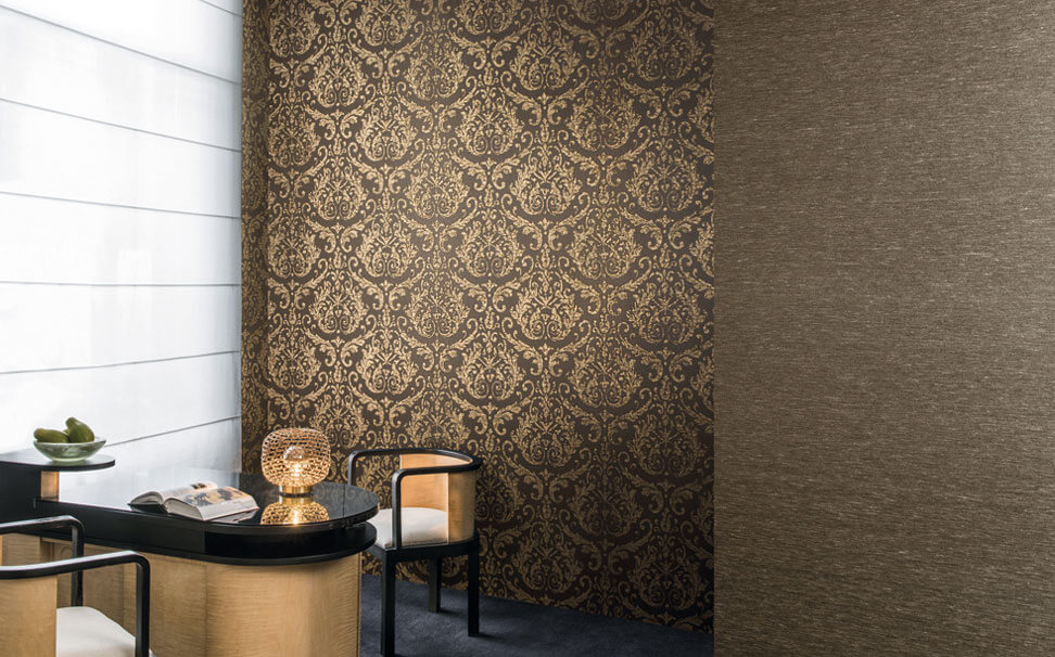 Designer Damask wallcovering - Marshalls