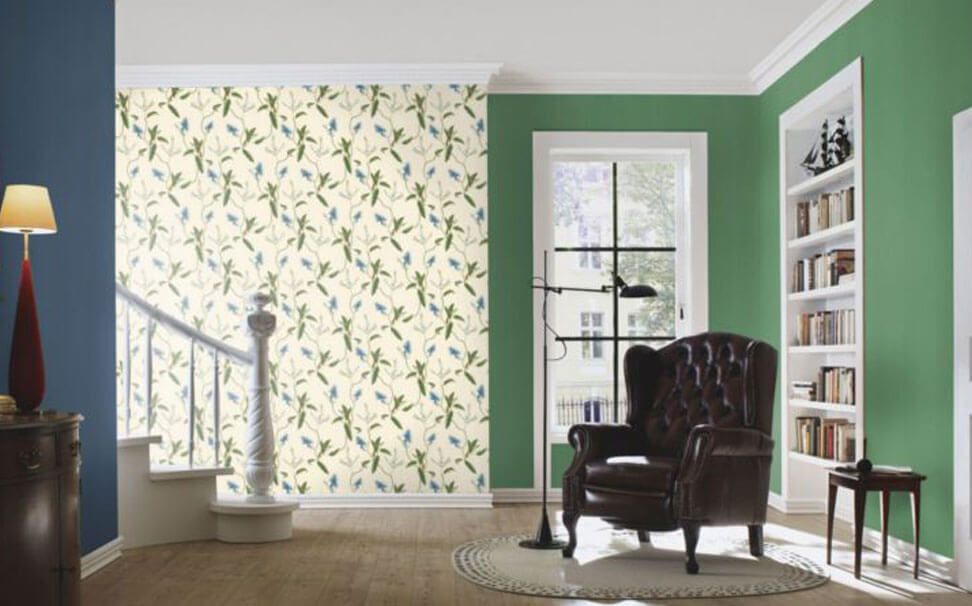 Floral effect wallcovering - Marshalls