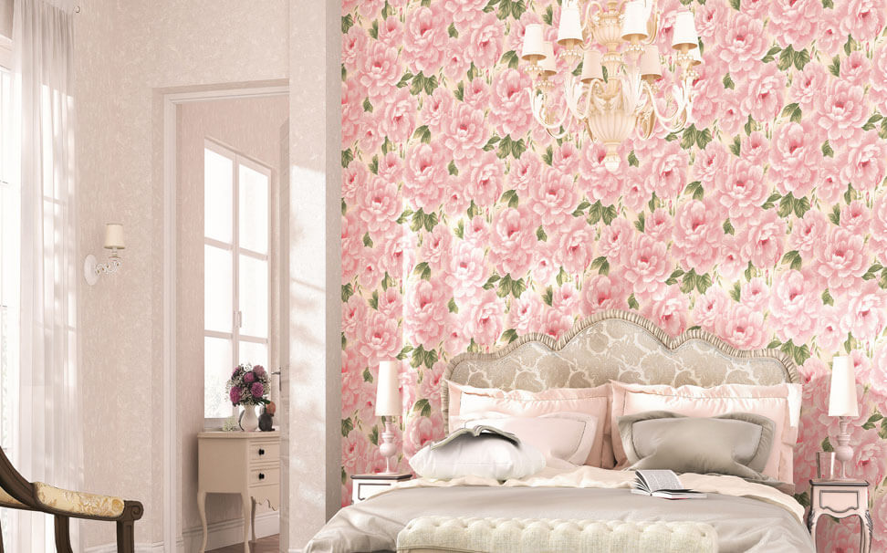 Floral wallpaper floral wallcovering online flower wallpaper for pink flowers wallpapers marshalls mightylinksfo