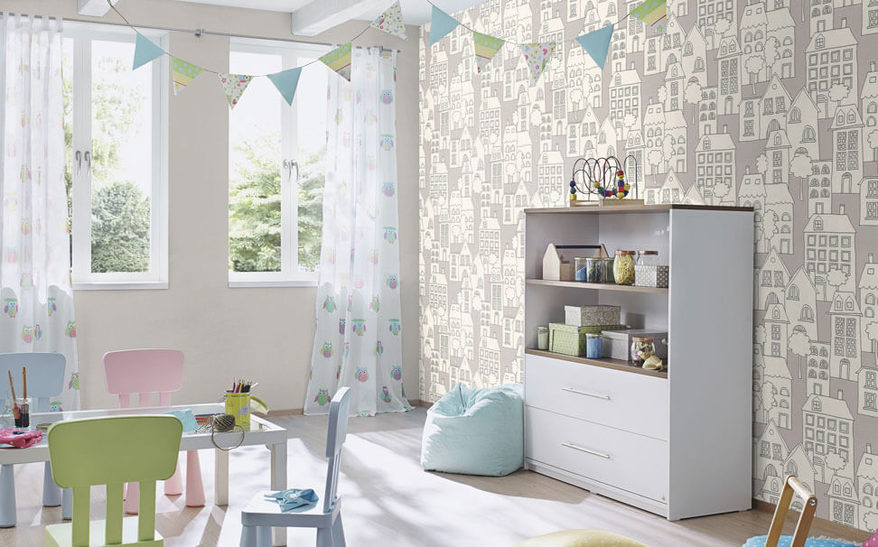 Cartoon house wallpapers for Kids - Marshalls