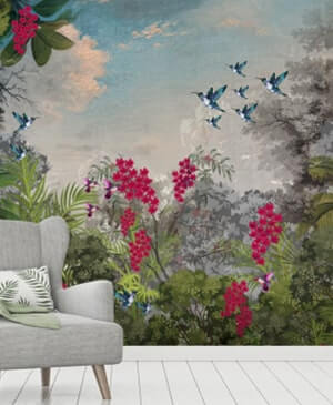 Krsna Mehta Designer Wallpaper for Wall | HD 3D Traditional Wallpaper for Signature Home Décor | Textured Wallpaper for Home, Living Room, Kitchen, Wallpaper for Bedroom Walls