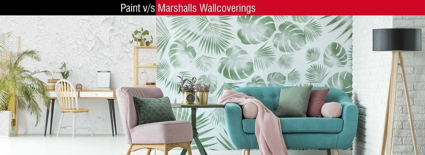 Paint Colour or Vinyl Wallpaper for Wall? Fire Retardant, High Tear & Scratch Resistant Wallpaper Available from Marshalls Wallcoverings, India
