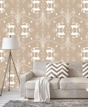 Payal Singhal Signature Designer luxury Wallpaper for Wall | HD 3D Wallpaper for Home Décor | Textured Wallpaper for Home, Living Room, Kitchen, Wallpaper for Bedroom Walls