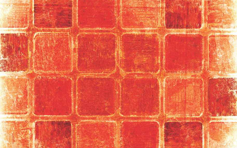 Rustic and modern squares in bold red colour Abstract Wallcoverings - Marshalls
