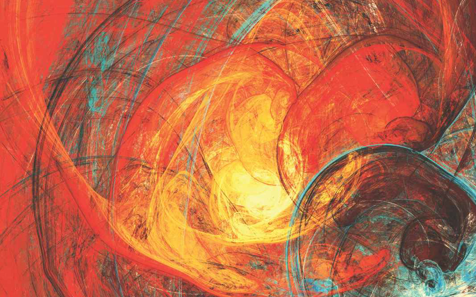 Rage of the flaming sun captured Abstract Wallcoverings - Marshalls