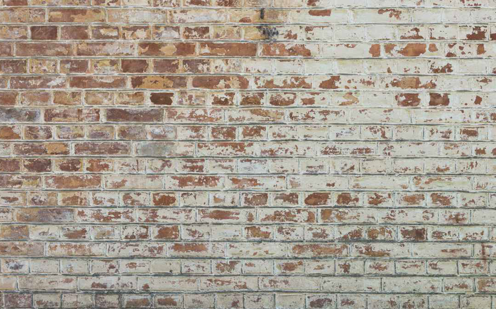 Vintage old industrial brick wall with white plaster Abstract Wallcoverings - Marshalls
