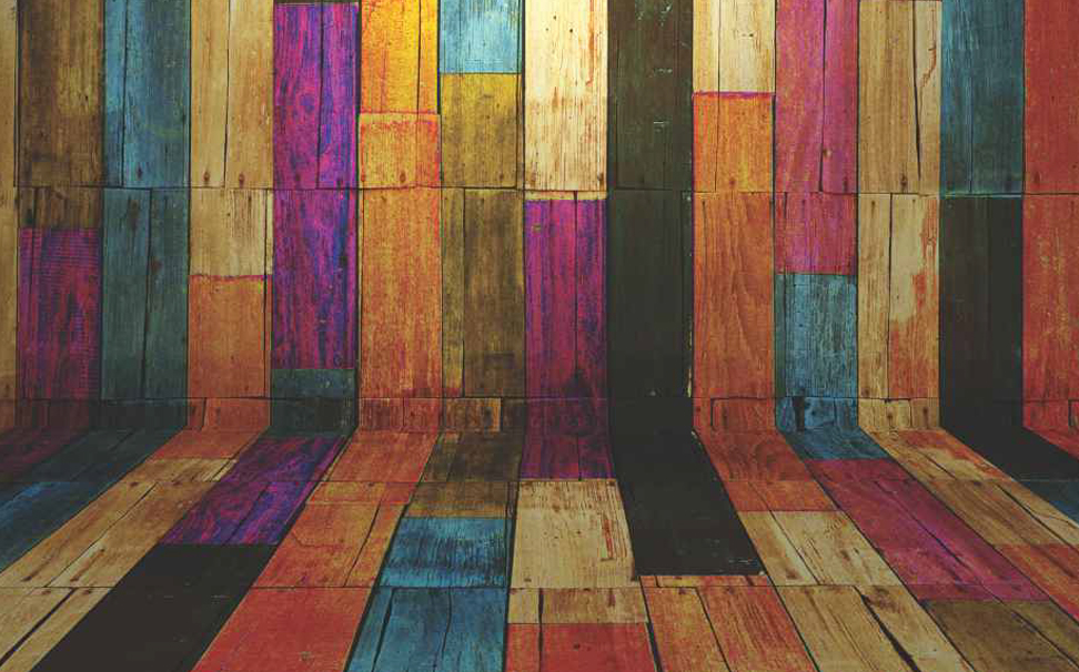 Planks of wood coloured to create a vintage decoration Abstract Wallcoverings - Marshalls