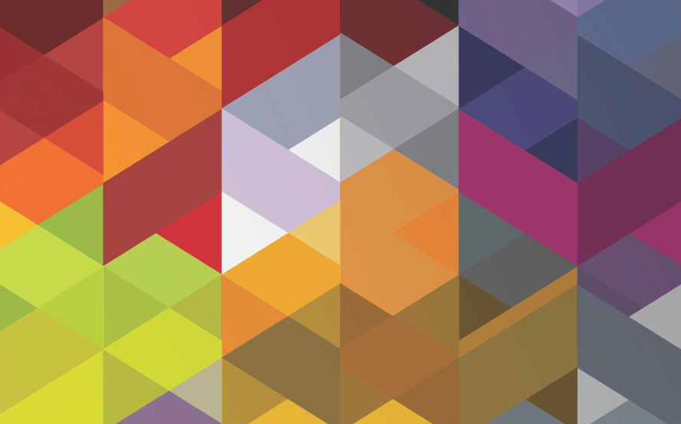 Geometric colourful 3D abstract Wallcoverings - Marshalls
