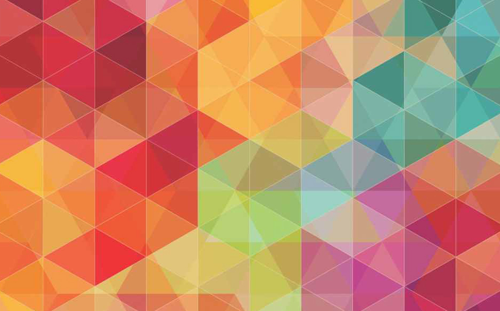 Colourful mosaic triangles Abstract Wallcoverings - Marshalls