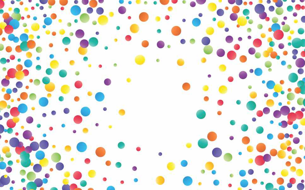 Bright colourful splatter dots pattern Abstract Wallcoverings - Marshalls