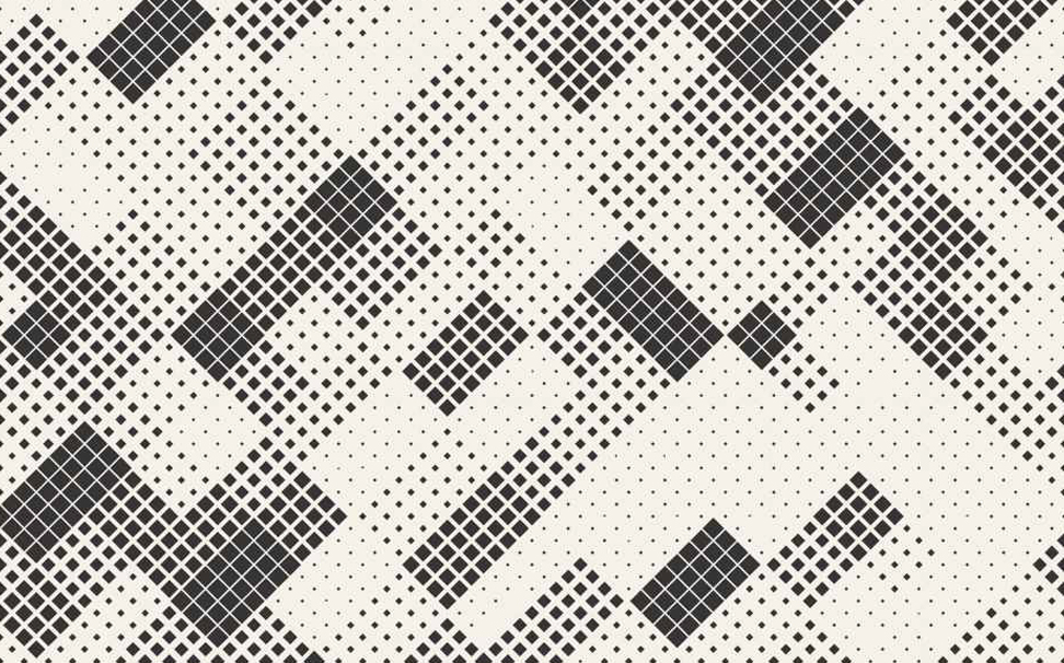 Memphis art, halftone mosaic texture squares Abstract Wallcoverings - Marshalls