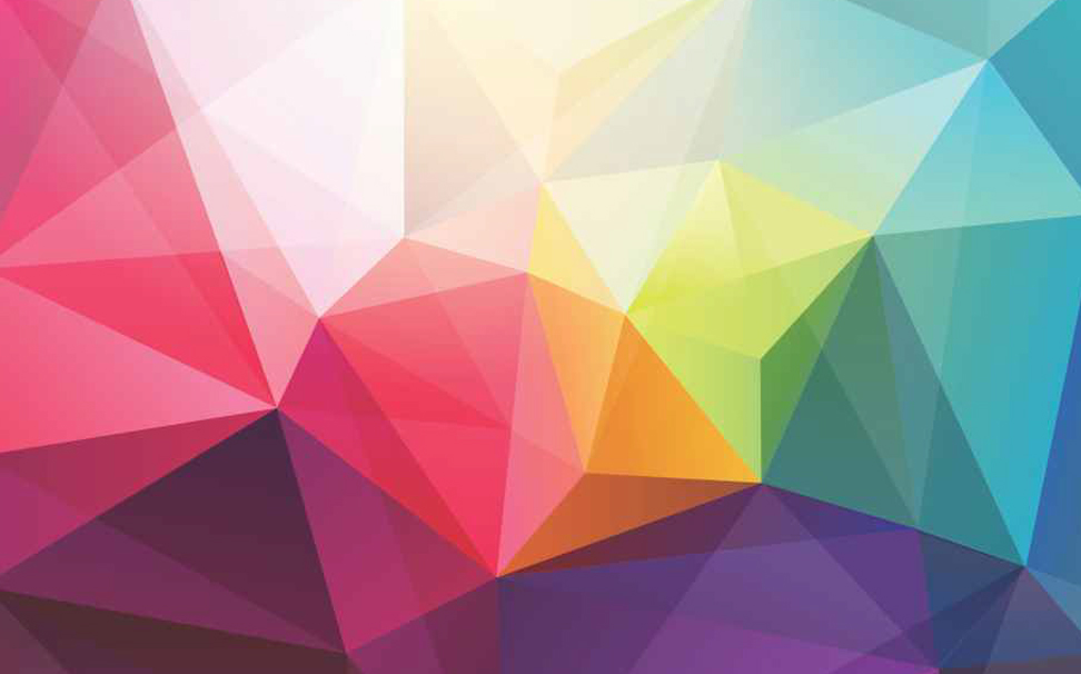 Origami colourful crystal polygon Abstract Wallcoverings - Marshalls