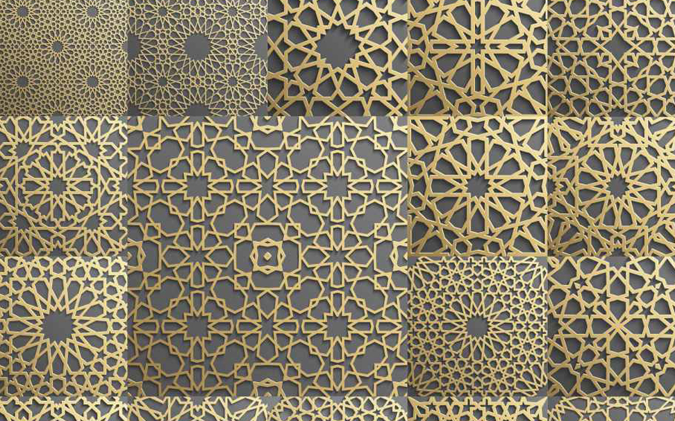 Arabic, Indian and Persian motifs geometric pattern Abstract Wallcoverings - Marshalls