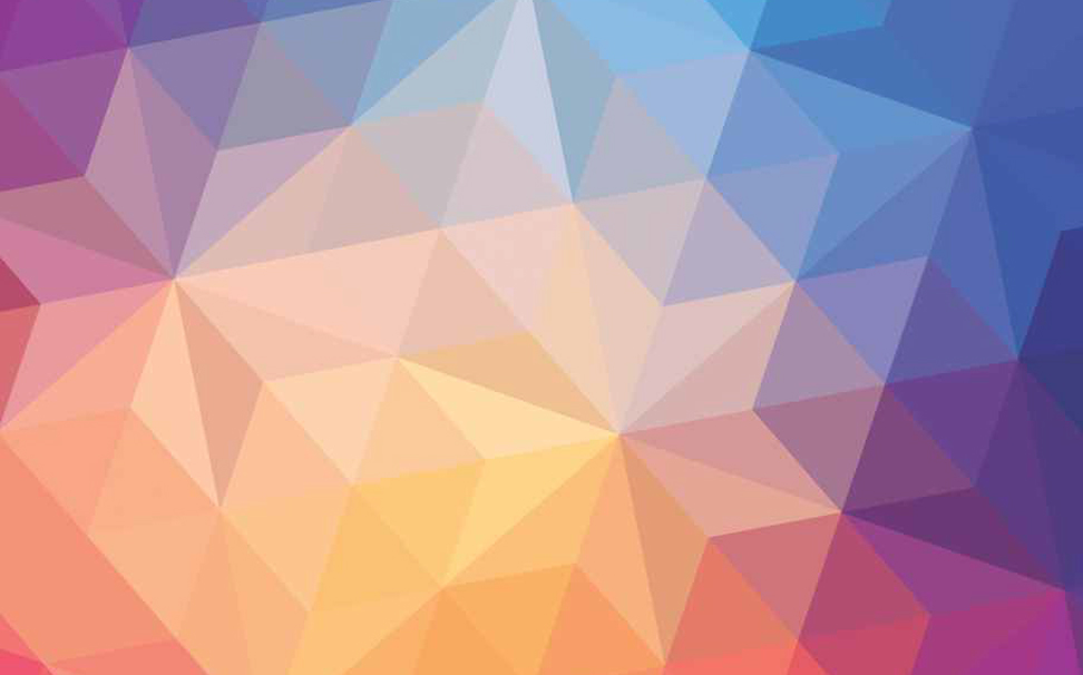 Gradient polygonal geometric pattern Abstract Wallcoverings - Marshalls