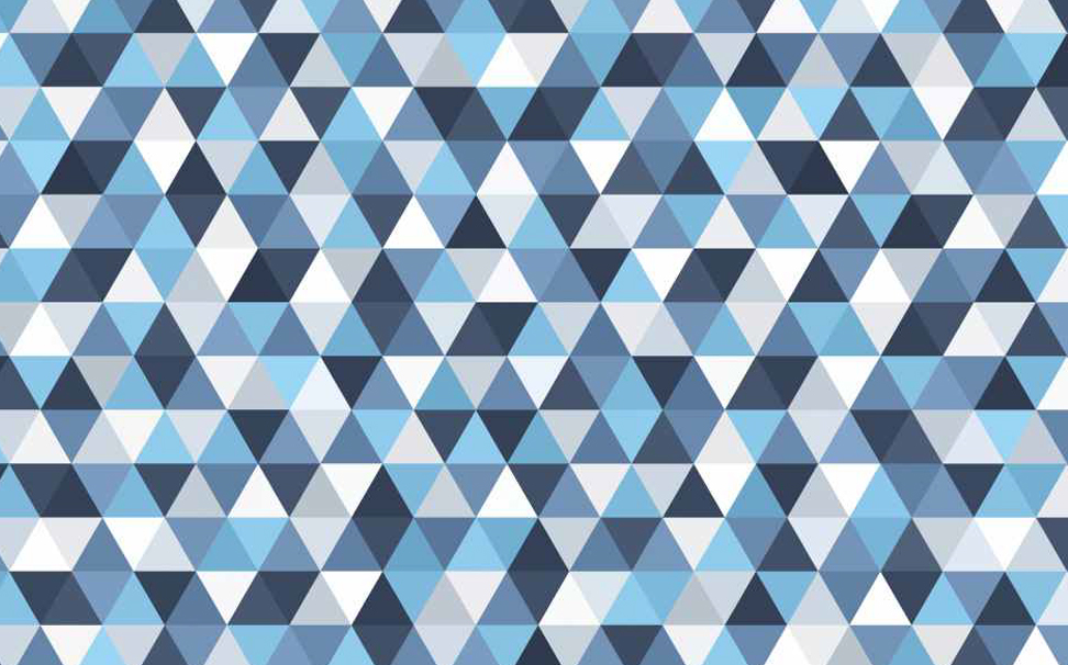 Geometric blue, grey and white triangles Abstract Wallcoverings - Marshalls