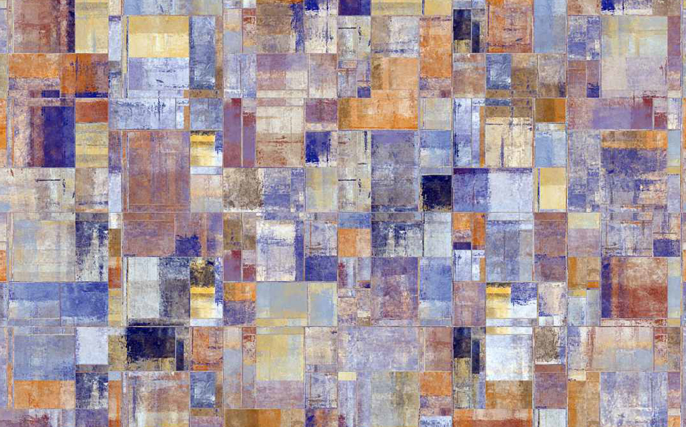 Colourful square Abstract Wallcoverings - Marshalls