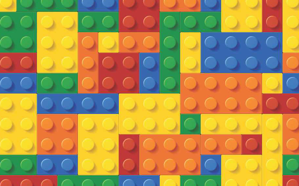 Zig zag lego blocks - Marshalls