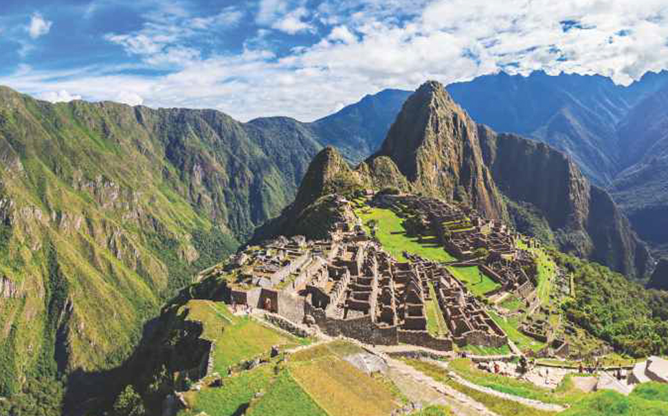 Heavenly site of ancient Inca ruins in Machu Picchu, Peru Wallaper for walls - Marshalls