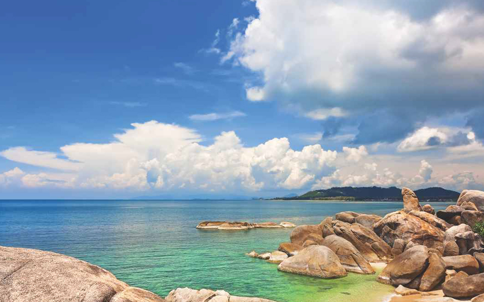 Fascinating rock formations on Koh Samui's south coast wallpaper - Marshalls