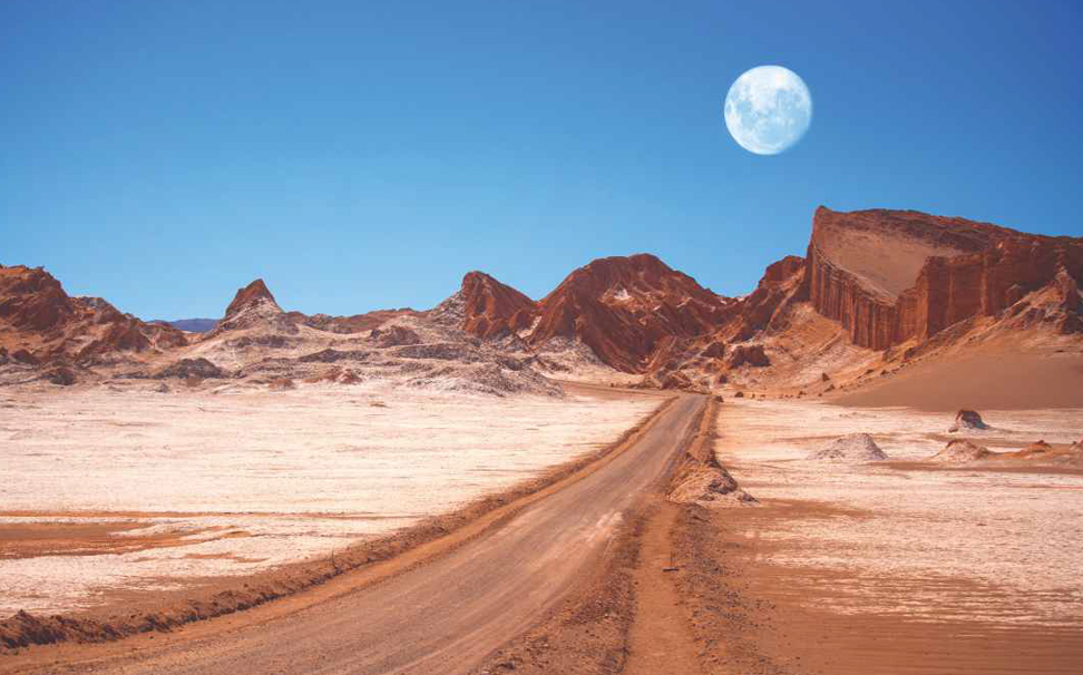 Geological formation of Moon Valley, Atacama Desert, Chile wallpaper - Marshalls
