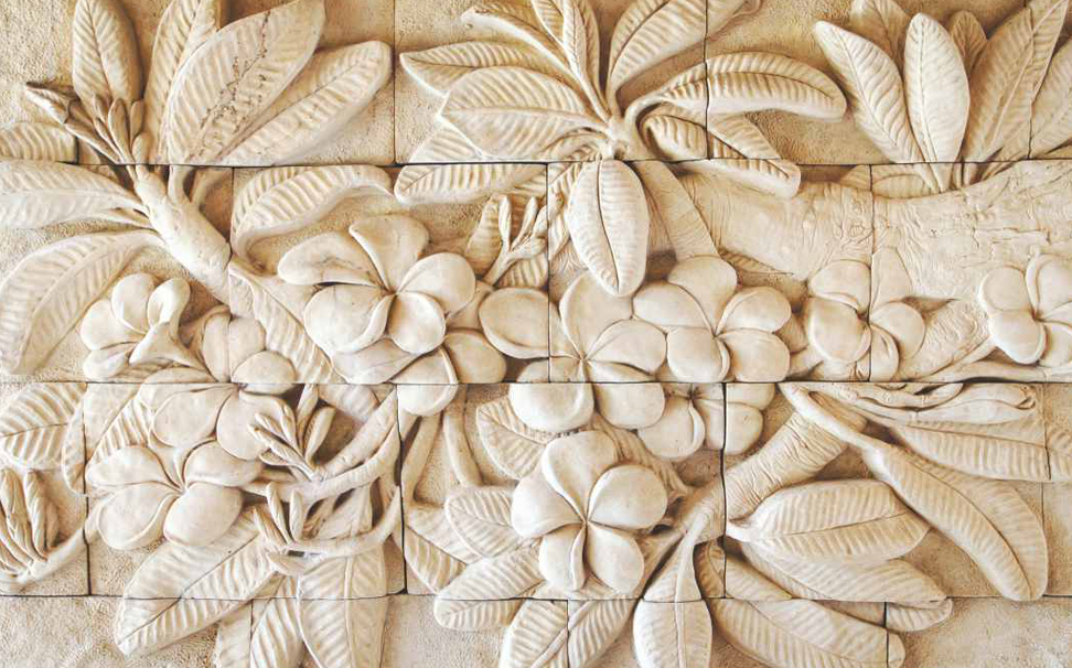 Hand carved stone flower, Thailand wallpaper - Marshalls
